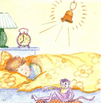 Daniel im Bett und die Glocke der Lotte
